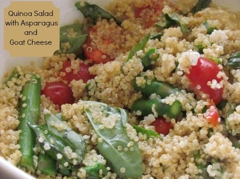 Easy Healthy Recipe: Quinoa Salad with Asparagus and Goat Cheese - Our Family World | Healthy Cooking Magazine | Scoop.it