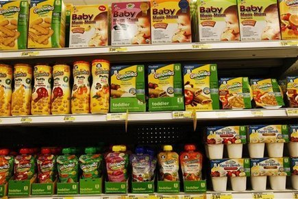 More babies squeezing organic food from pouches - LA Daily News | gourmet pies | Scoop.it