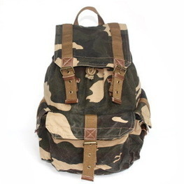 Fashion canvas Camouflage rucksack / school backpack from Vintage rugged canvas bags | personalized canvas messenger bags and backpack | Scoop.it