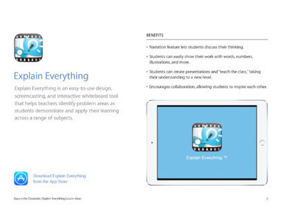 Explain Everything Lesson Ideas from @Apple | iPads in education - high schools | Scoop.it