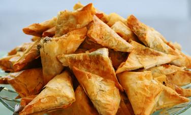 Greek Cheese Triangle Appetizer (Recipe) - Care2.com | Greek food | Scoop.it