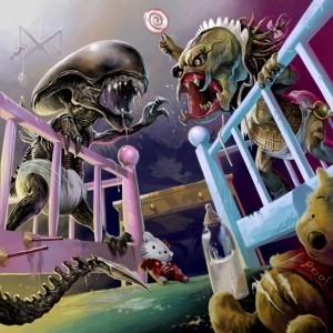 E' cominciato con un bon bon, simpatica illustrazione di Baby Alien vs. Baby Predator | FantaScientifico ! | Scoop.it