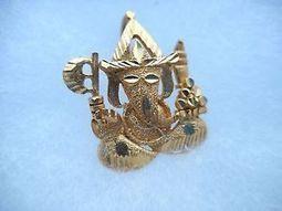 NOS, 22K Beautiful Yellow Asain Gold, Ganesh/Ganesha/Hindu God/Pendant/Jewelry | Ganesha Sharanam | Scoop.it