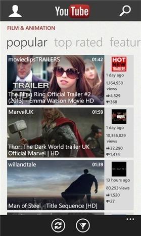 L'application Youtube pour Windows Phone revient après la récente polémique | Geeks | Scoop.it