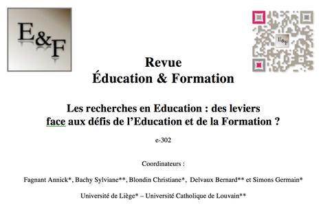 Parution du e-302 Revue Education & Formation | Revue Education & Formation | Scoop.it