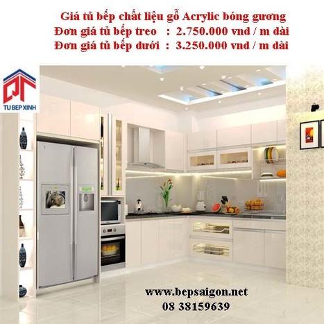 bepsaigon.net - Tủ bếp nhà chị Trinh - Tủ bếp nhà chị Trinh | Tủ bếp Acrylic - MFC | Scoop.it