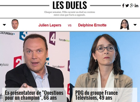 Delphine Ernotte / Julien Lepers | DocPresseESJ | Scoop.it