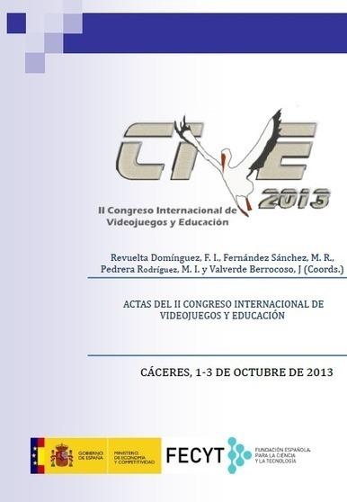 II Congreso Internacional de Videojuegos y Educación. (Doble modalidad: Presencial y on-line): ACTAS | Videojuegos y Educación | Scoop.it