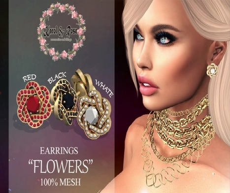 Flowers Earrings Group Gift by Karol & Rose | Teleport Hub - Second Life Freebies | Second Life Freebies | Scoop.it