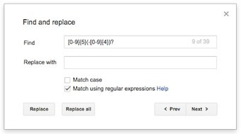 Use regular expressions to search in Google Docs | Éducation, TICE, culture libre | Scoop.it