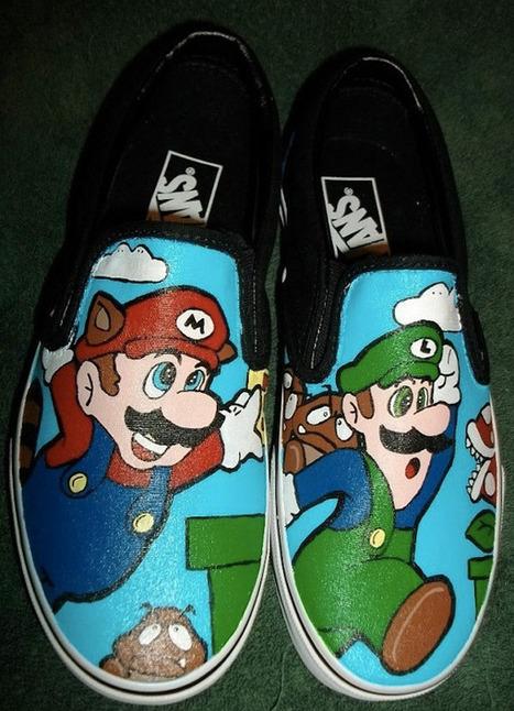 Super Mario Bros. Custom Vans | All Geeks | Scoop.it