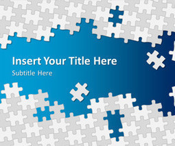 Puzzle Pieces PowerPoint Template | Test | Scoop.it