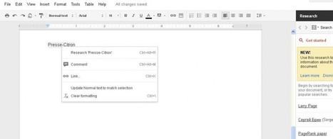 Le moteur de recherche désormais directement intégré dans Google Docs | Communiquer sur le Web | Scoop.it