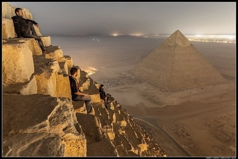 Awesomel Illegal Photos from Atop Egypt's Great Pyramid | Travel & Backpacking | Scoop.it