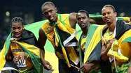 'Lightning Bolt' strikes again in Jamaica's world-record 400 relay - Los Angeles Times   london-olympics-4kiddies   Scoop.it