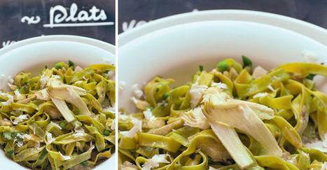 Tagliatelles artichauts, petits pois et parmesan | thevoiceofcheese | Scoop.it