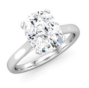 Classic Solitaire Cushion Diamond Engagement Ring | Diamond Engagement Ring | Scoop.it