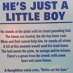 'He's just a little boy' sign at youth ball field goes viral | Troy West's Radio Show Prep | Scoop.it