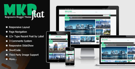 MKRflat - Themeforest Responsive Magazine/News Blogger Theme Free Download (Premium) | Blogger themes | Scoop.it