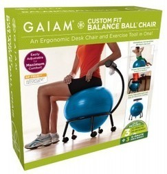 Gaiam Custom Fit Adjustable Balance Ball Chair | Sports, Health and Personal Care | Scoop.it
