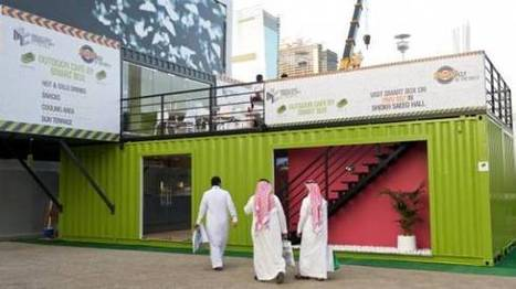 Shipping containers convert into café at Dubai show | sustainable architecture | Scoop.it