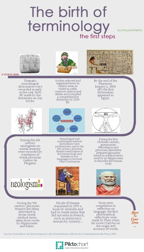 An infographic: The birth of terminology (The first steps) - In My Own Terms | terminology news | Scoop.it