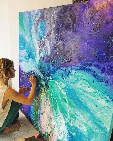 #Ethereal #Marbled #Paintings Express the Inner Light Inside All of Us #art #abstract | Luby Art | Scoop.it