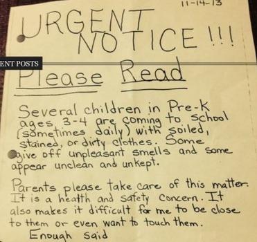 Pre-K Teacher Doesn't Want Parents Sending Their Stinky Kids to School - The Stir | Veille | Scoop.it