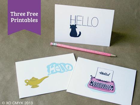 """Free Printable """"Hello"""" Cards   DIY & Design Freebies   Scoop.it"""