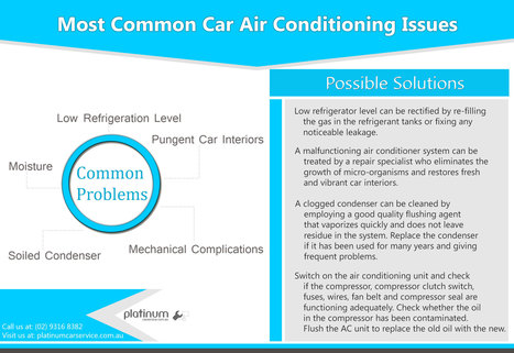 Most Common Car Air Conditioning Issues | Platinum Services | Scoop.it