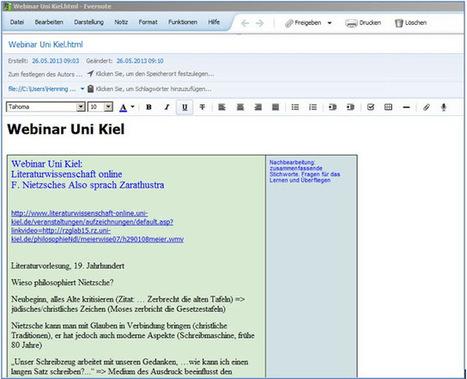 Web2-Unterricht: Vorlesungsnotizen mit Evernote - ein Übungsblock   MOOCs   Scoop.it