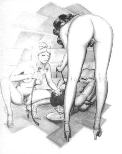 Femdom drawings - male slave forced to drink | M3 - Meat Male Magazine - Carne de hombre | Scoop.it