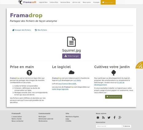 Framadrop: envoyez de gros fichiers en toute sécurité! | Le libre en éducation | Scoop.it