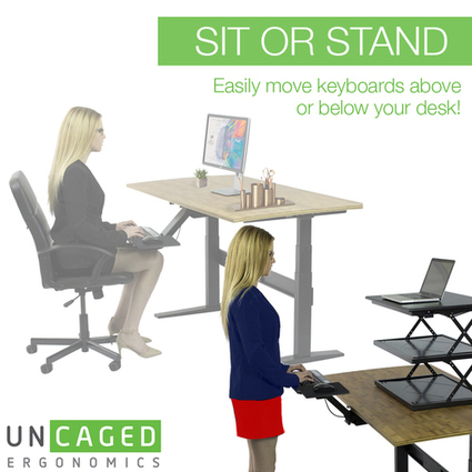 KT2 - Adjustable Standing Desk Keyboard Tray   Adjustable Ergonomic Stand Up Desk   Scoop.it