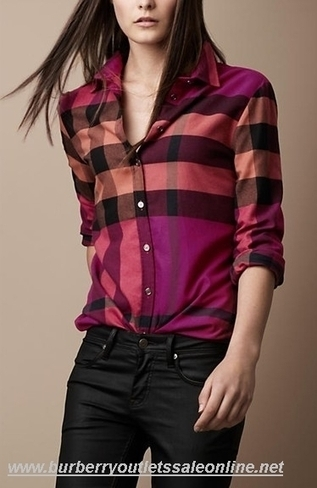 Burberry Women Classic New Shirt Violetred [B003772] - $95.00 : Burberry Outlet Stores,Burberry Outlet Online,Cheap Burberry For Sale | Burberry Oultet | Scoop.it