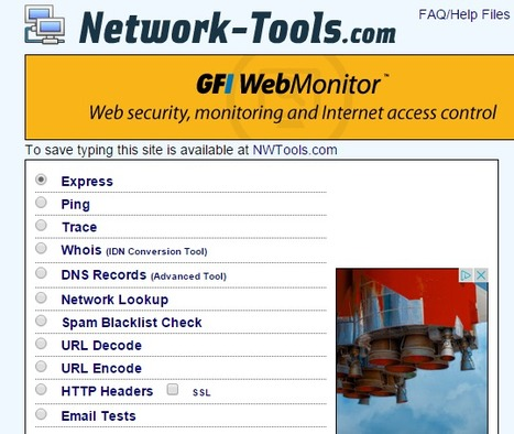 Traceroute, Ping, Domain Name Server (DNS) Lookup, WHOIS, Email Verification Tools | ICT Security Tools | Scoop.it