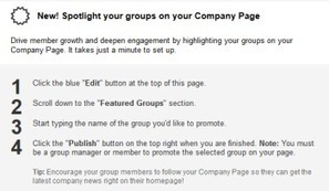 LinkedIn marketing alert: Page managers can spotlight their brands' Groups - Brafton   LinkedIn For Business   Scoop.it