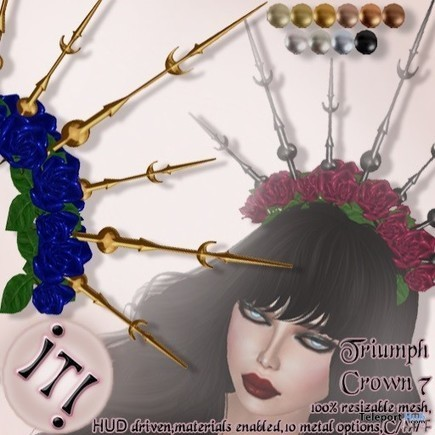 Triumph Crown 7 Color Me Project Group Gift by IT! | Teleport Hub - Second Life Freebies | Second Life Freebies | Scoop.it