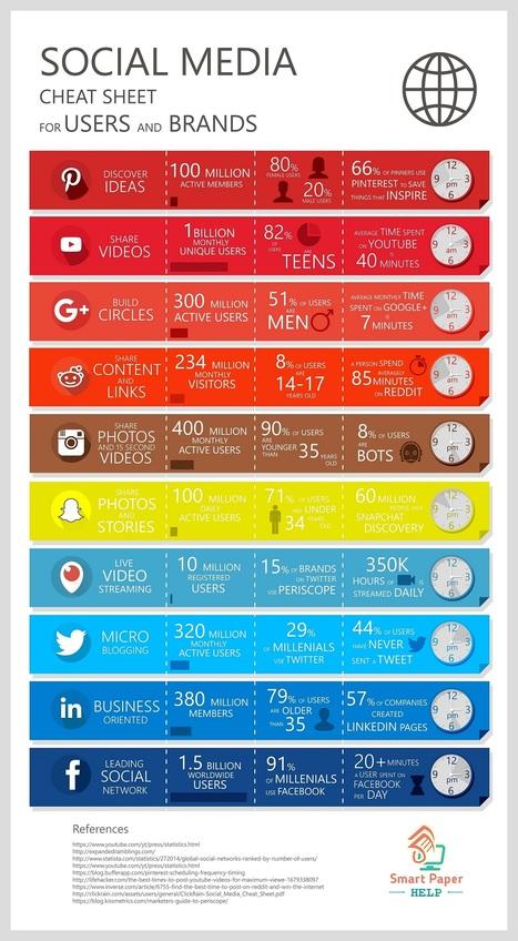 (Infographie) Les réseaux sociaux et leurs audiences respectives | Sociologie du numérique et Humanité technologique | Scoop.it