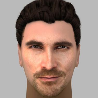 Christian Bale visage 3D | 3D Library | Scoop.it