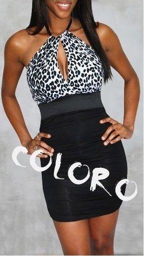 CWY4 Leopard brest hole exposure dress halter club party dress | contemporary fashion design | Scoop.it