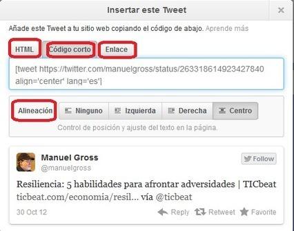 Crea y Aprende con Laura: Cómo insertar un Tweet en tu blog | Educacion, ecologia y TIC | Scoop.it
