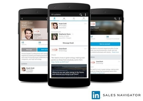 Introducing LinkedIn Sales Navigator for Android | Social Selling:  with a focus on building business relationships online | Scoop.it