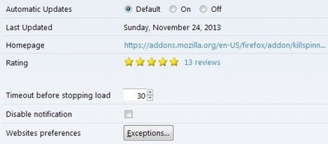 KillSpinners makes sure that pages do not load indefinitely in Firefox | Digital-News on Scoop.it today | Scoop.it
