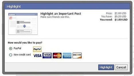 [Facebook] Pour être lu par tous ses amis, il faudra payer ? | Facebook pour les entreprises | Scoop.it