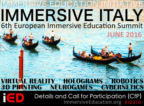 Italy Selected for 6th European Immersive Education Summit | Immersive Education Initiative | VirtualWorlds-in-Education | Scoop.it