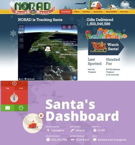 Where's Santa Claus? The 2012 Santa Tracker List, From NORAD To Google, From The Web To Apps | E-Learning and Online Teaching | Scoop.it