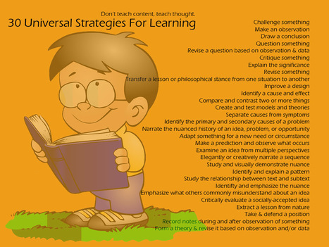 30 Universal Strategies For Learning | The Slothful Cybrarian | Scoop.it