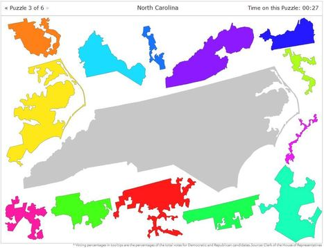 Puzzle: Put the Congressional Districts Back Together | Geography Education | Scoop.it