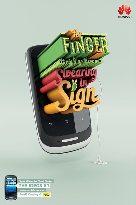 30 Inspiring Examples of Big Typography In Print Ads | Design & Graphics | Scoop.it